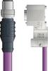 LAPP UNITRONIC® PROFIBUS® D-Sub Cordset to terminator Module - 5 positions male M12 straight to D-sub terminator - Violet PVC - Stationary - 10m -- OLFPB4110141S10 -Image