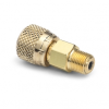"""1/8"""" male NPT x female Quick-test, no check-valve, brass -- QTHA-1MBA -- View Larger Image"""