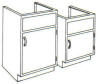 Standard Steel Laboratory Cabinet, Small Sink Cabinet -- 10S-N Series