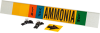 Brady B-681, B-883 Black / Blue / Green / Orange / White on Yellow Polyester Strap-On Pipe Marker - 3 1/2 in Character Height - Printed Msg = AMMONIA - 59944 -- 754476-59944 - Image
