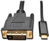 USB 3.1 Gen 1 USB-C to DVI Adapter Cable (M/M), Thunderbolt 3 Compatible, 1920 x 1080 (1080p), 16 ft. -- U444-016-D - Image