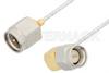 SMA Male to SMA Male Right Angle Cable 6 Inch Length Using PE-SR047FL Coax -- PE34197-6 -Image