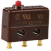 MICRO SWITCH SX Series Subminiature Basic Switch, Single Pole Double Throw (SPDT), 250 Vac, 5 A, Pin Plunger Actuator, Solder Termination -- 17SX21-T -Image