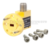 Zero Biased Waveguide Detector WR-15 to SMA Female and Negative Video Out From 50 GHz to 75 GHz V Band, UG-385/U Round Cover Flange -- FMMT3002