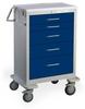 5 Drawer Tall Steel Anesthesia Cart -- UTGKU-43669-DKB