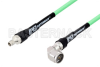 SMA Male to N Male Right Angle Low Loss Test Cable 150 cm Length Using PE-P300LL Coax, RoHS -- PE3C3236-150CM -Image