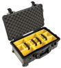 Pelican 1510 Carry On Case with Yellow Padded Dividers - Black | SPECIAL PRICE IN CART -- PEL-015100-0040-110 -Image