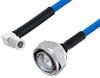 Plenum 7/16 DIN Male to QMA Male Right Angle Low PIM Cable 50 cm Length Using SPP-250-LLPL Coax , LF Solder -- PE3C5873-50CM -Image