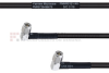 RA SMA Male to RA SMA Male MIL-DTL-17 Cable M17/28-RG58 Coax in 30 Inch -- FMHR0121-30 -Image