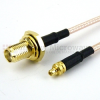 MMCX Plug to SMA Female Bulkhead Cable RG-316 Coax in 72 Inch -- FMC0912315-72 -Image