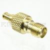 MCX Plug to SMA Female (Jack) Adapter, Gold Plated Brass Body, High Temp, 1.3 VSWR -- SM4792 - Image