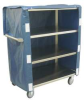 Utility Cart,4 Shelf,22x48,w/Nylon Cover -- ZL248-U4-AS