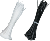 """100-Pack Black/Natural 1/8""""W x 4""""L Cable Zip Ties -- FT610 -- View Larger Image"""