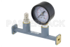 WR-28 Waveguide Pressurizing Section 4.25 Inch Length, UG-599/U Square Cover Flange from 26.5 GHz to 40 GHz -- PEWSP1001 - Image