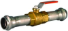 Vic-Press® Brass Body Ball Valve with Stainless Steel Press Ends Style 304/316 - Style P589