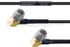 RA SMA Male to RA SMA Male MIL-DTL-17 Cable M17/119-RG174 Coax in 100 cm -- FMHR0108-100CM -Image