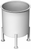 Stainless Steel Tank, 800 Gals, Standard Finish, Cone Bottom -- SSTSC0800