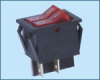 Double-poles Rocker Switch -- RS-2101-1B ON-OFF - Image