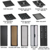 45U Server Cabinet Tap Mesh-Front, Black -- EC45U2436TMMSMNK -- View Larger Image