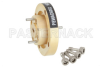 WR-15 Waveguide Bulkhead Adapter UG-385/U Round Cover Flange, 50 GHz to 75 GHz -- PEWAD5002 -Image