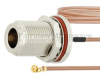 N Female Bulkhead to UMCX 2.5 Plug Cable RG178 Coax in 9 Inch and RoHS Compliant -- FMCA1011-9 -Image