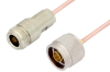 N Male to N Female Cable 12 Inch Length Using RG405 Coax, RoHS -- PE3921LF-12 -Image