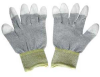 Conductive Glove, Fingers Coated w/Polyurethane Small -- 2523-SF-03S