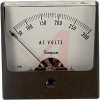 AC Voltage Meter, 0-300ACV, Iron-Vane; High Density Black Plastic; + 2% -- 70209379