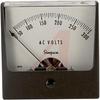 AC Voltage Meter, 0-300ACV, Iron-Vane; High Density Black Plastic; + 2% -- 70209379