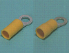Solderless Terminals -- Ring tongue terminal (R-type, Vinyl-insulated (funnel-entry )) - Image