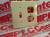 WALL PLATE 2GANG DUPLEX TOGGLE IVORY -- 86005