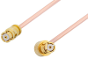 SMP Female to SMP Female Right Angle Cable 60 Inch Length Using PE-047SR Coax, RoHS -- PE36154LF-60 -Image
