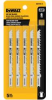 DEWALT 4 In. 8 TPI U-Shank Jig Saw Blades (5) -- Model# DW3705-5