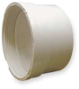 Pipe Cleanout Adapter,4 In,PVC,Wh -- 1CNV1