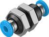 QSS-4 Push-in bulkhead connector -- 153157