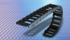 Hybrid Nylon Chain/Aluminum Frame Stay Cable Track; Customizable Widths -- SILVYN® Rugged Hybrid Carrier