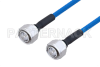 Plenum 4.3-10 Male to 4.3-10 Male Low PIM Cable 36 Inch Length Using SPP-250-LLPL Coax , LF Solder -- PE3C4142-36 -Image