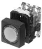 Illuminated Pushbutton Switch With Flush Round Head, Square Bezel -- AR22F0P, F5P