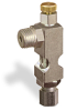 "(Formerly B1628-12X00), Angle Small Sight Feed Valve, 1/4"" Male NPT Inlet, 1/4"" OD Tube Outlet, Handwheel -- B1628-145B1HW -Image"
