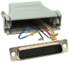DB25 Male to RJ12 Modular Adapter -- 31D3-A1 -- View Larger Image