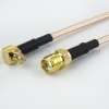SMA Female to RA MCX Plug Cable RG316 Coax in 36 Inch -- FMC1317316-36 -Image