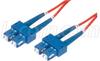 9/125, Single Mode Fiber Cable, Dual SC / Dual SC, Red 3.0m -- SFODSC-RD-03 -Image