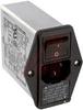 EMI POWER LINE FILTER, MULTI FUNCTION MODULE, W/IEC CONN, SINGL FUSE, W/VOLT SEL -- 70133404 - Image