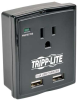 1 Outlet, Direct Plug-In, 1080 Joules, 2.4 amp USB charger - Protect It! Surge Suppressor -- SK10USB - Image