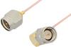 SMA Male to SMA Male Right Angle Cable 60 Inch Length Using PE-034SR Coax, RoHS -- PE34206LF-60 -Image