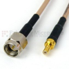 SMA Male to SSMB Female Cable RG-316 Coax in 12 Inch and RoHS Compliant -- SCA25316-12 -Image