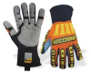 Mechanics Gloves,Orange/Yellow,L,PR -- 15U461