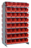 """Bins & Systems - Store-More 6"""" Shelf Bins (QSB Series) - Sloped Shelving Systems - Double Sided Pick Racks - QPRD-202 - Image"""