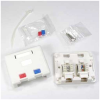 CAT5E/RJ12 Surface Mount Box White -- 1019-SF-13