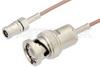 SMB Plug to BNC Male Cable 24 Inch Length Using RG178 Coax -- PE33825-24